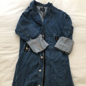 NEVER WORN long denim jacket